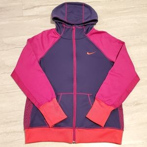 NIKE Therma-Fit zippered pocketed hoodie
